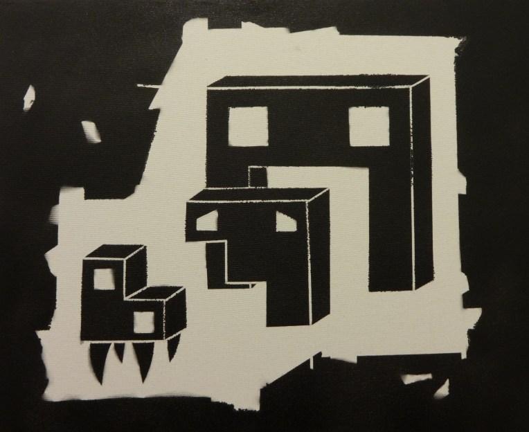 2014-01 When a friend goes away_spray art